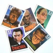 Movie Monsters Halloween Postage Stamps 1997