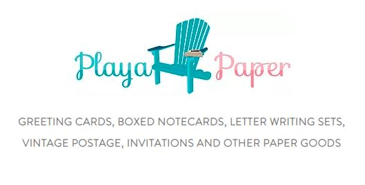 "Playa Paper Stationery ""Pretty paper products with postage provided"""