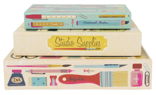 Punch Studio Art Supplies Letter Writing Pencil Box Set