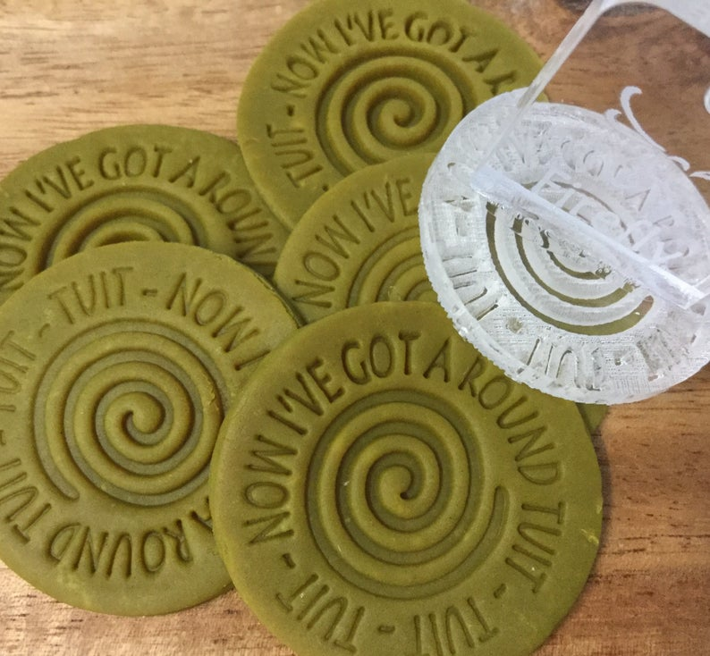Addressing Round Tuit Letter Writing with Round Tuit Stamp