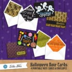 TurtleNotes Printable Halloween Note Cards Set