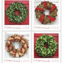 USPS Holiday Wreaths 2019 Forever Stamps