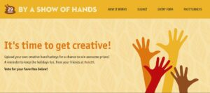 By a Show of Hands 2019 Hand Turkey Competition Deadline November 29th