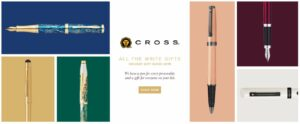 Cross Holiday Gift Guide 2019 on Cross landing page