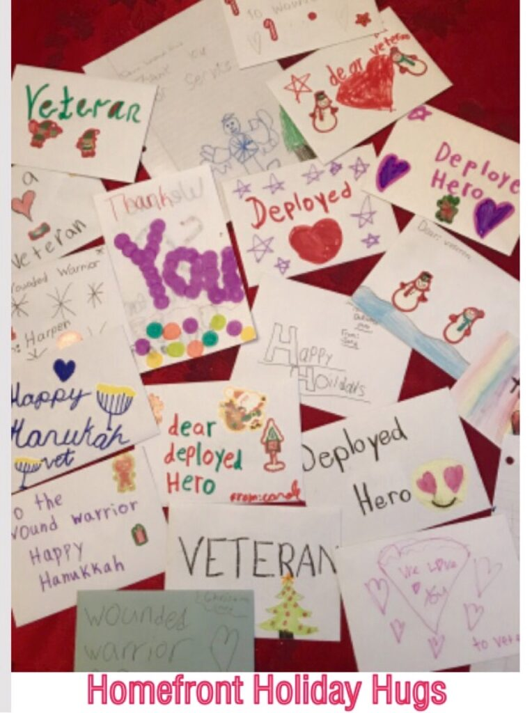 Homefront Hugs Holiday Letters Cards