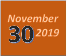 November 30 2019 Date for AnchoredScraps November 2019 Blog Recap