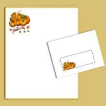 Pumpkin Patch Lined Autumn Printable by Sydney Lee Stationery