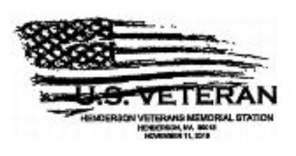 Henderson Veterans Memorial Pictorial Postmark 2019