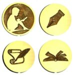 Books Reading Writing Wax Seal Stamps LETTER SEALS