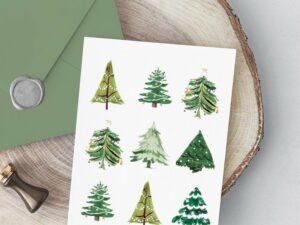 HomeSchmidtHome Christmas tree Christmas card printable