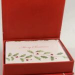 LENOX Holiday Greeting Cards Boxed Set & In pursuits of Christmas Dishes!
