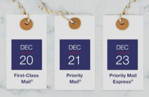 USPS Holiday Deadlines Approaching