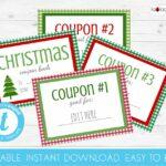 Gingham Editable Christmas Coupon book