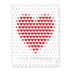 USPS Made of Hearts Forever stamp #572404