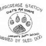 Beargrease Sled Dog Marathon 2020 Pictorial Postmark & Sled Dog Poodles