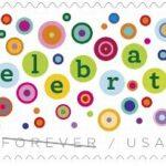 Let's Celebrate! Forever Stamp Arriving February 14, 2020