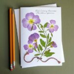 Primrose wildflowers note card