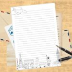 Traveling Printable Writing Paper Set