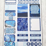 Pantone Color of the Year Classic Blue Minimalist Weekly Kit