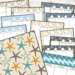 Starfish Printable planner pages Old Field Designs