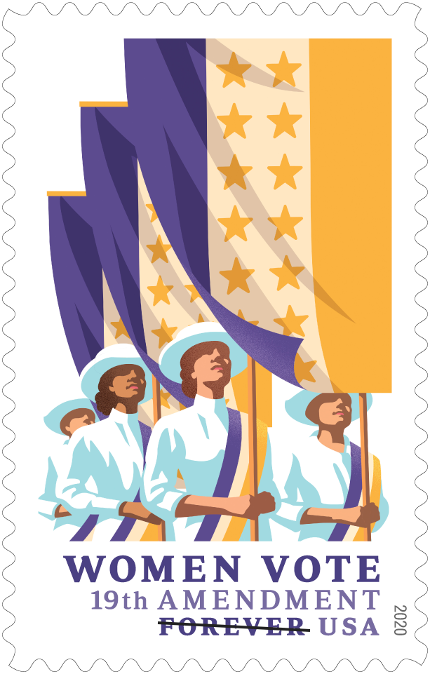 USPS Commemorating Centennial Women Vote Stamp 19th Amendment in 2020