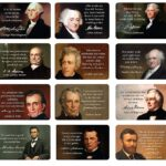 US Presidents Motivational Quote Cards