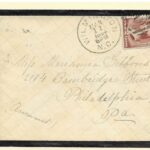 Postal History Mourning Cover 1884 Wilmington NC