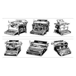 Vintage Typewriter Washi Tape