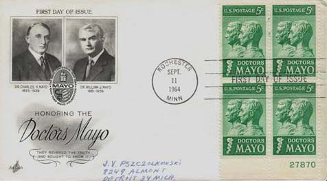 Doctors Mayo 1964 Stamp & First Day Cover