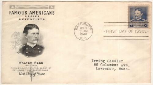 Walter Reed 5c Stamp & FDC