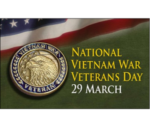 National Vietnam War Veterans Day 29 March