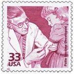 1950s: Polio Vaccine Developed Stamp