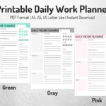 Daily Work Planner Printable