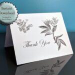 Elderberry Flower Thank You Card Printable