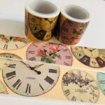 Amanda Mischell Designs Clock Vintage Style Washi Tape