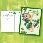 St Patricks Day Personalized Victorian Postcards by Colorful Images