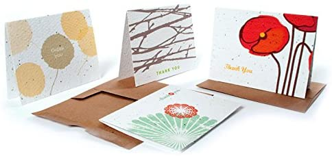 Bloomin Thanks A Bunch Seed Paper Greeting Cards
