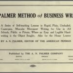 Palmer Method Penmanship Business Writing 1915 Printable