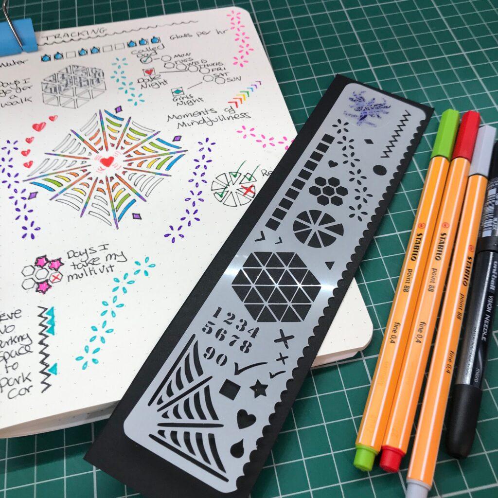 SprattsDesigns Bullet Journal Stencils