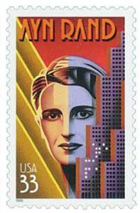 Ayn Rand 33c 1999 stamp USA-3308