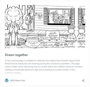 USPS Drawn together coloring page