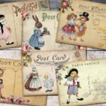 Vintage Easter Digital Postcards by RomanticaArts