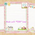 Adorable Easter Pink Lined Printable Stationery at CreationsByLouCo Etsy