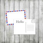 Printable Postcard Template Airmail