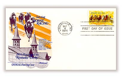 Horse Racing 1974 Stamp Fleetwood First Day Cover