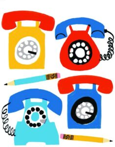 Extraordinary Objects Notes Stationery Rotary Telephone