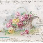 CottageRoseGraphics May Roses Bloom Vintage Postcard