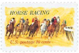 Horse Racing 1974 Stamp
