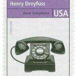 Henry Dreyfuss Desk Telephone Stamp