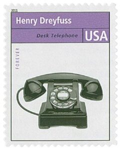 Henry Dreyfuss Desk Telephone Stamp